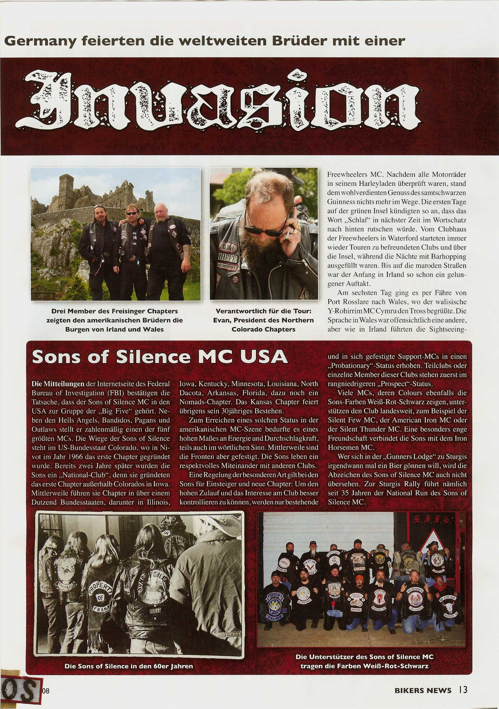Sons of Silence MC Germany Webpage